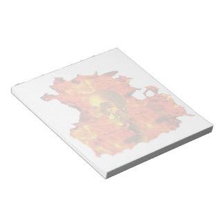 Fire skull Notepad  (2)sizes