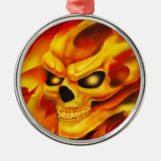 Fire Skull Ornament