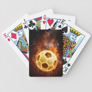 Fire Soccer Ball Bicycle Playing Cards