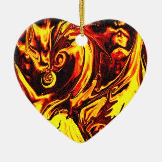 Fire Spirit Heart Ornament