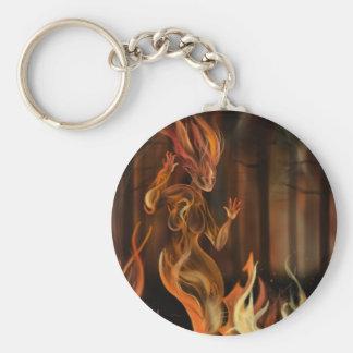 Fire Spirit Basic Round Button Key Ring