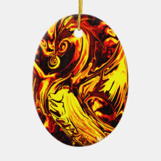 Fire Spirit Oval Ornament