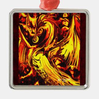 Fire Spirit Premium Square Ornament