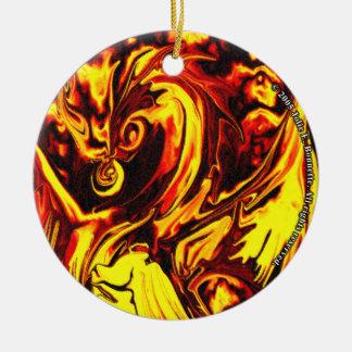Fire Spirit Round Ornament