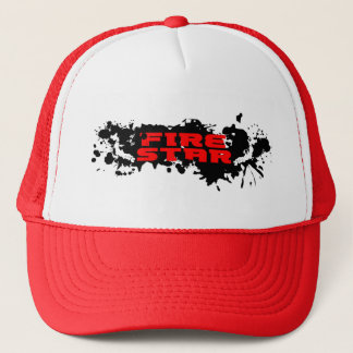 Fire Star Cap-Drop(black/red) Trucker Hat