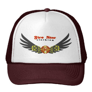 Fire star Cap-wings(gray+red) Hat