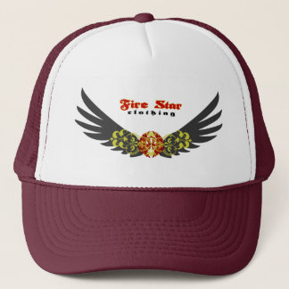 Fire star Cap-wings(gray+red) Trucker Hat