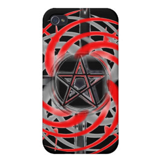 Fire Star Red and Black iPhone 4 Case