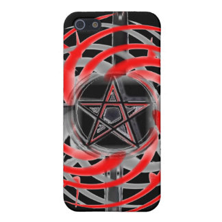 Fire Star Red and Black iPhone 5 Case