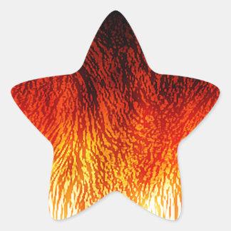 Fire Star Sticker