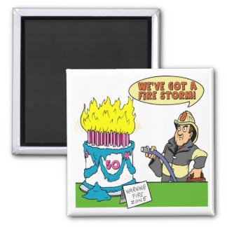 Fire Storm 50th Birthday Gifts Magnet