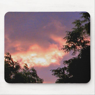 fire sunset pad mouse pad