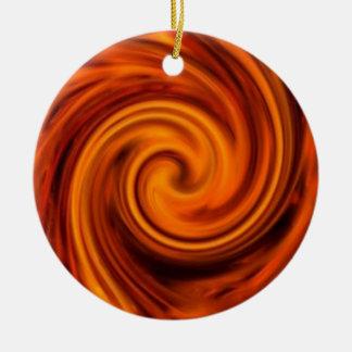 Fire Swirl Christmas Tree Ornament