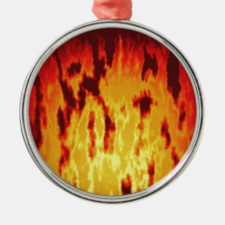 Fire texture christmas ornament