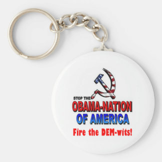 Fire the Dem-wits Basic Round Button Key Ring