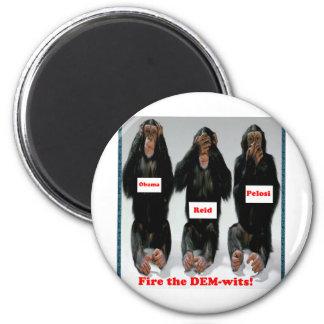 Fire the dem wits monkey fridge magnets