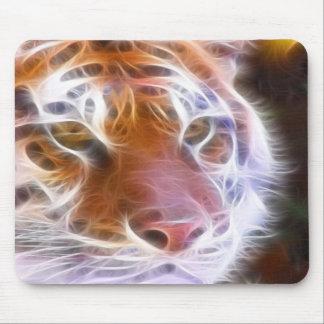 fire tiger mouse mat
