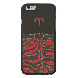 Fire Tiger Zodiac Sign Aries Carved® Maple iPhone 6 Case