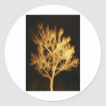 Fire tree classic round sticker