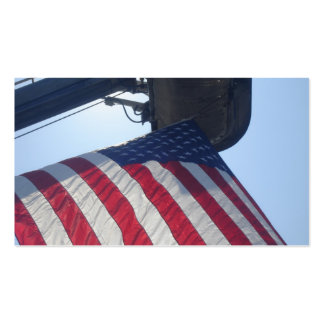 Fire Truck American Flag Aerial Tower Business Card