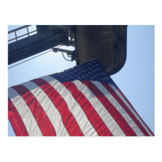 Fire Truck American Flag Aerial Tower Postcards
