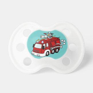 Fire Truck Baby Pacifier