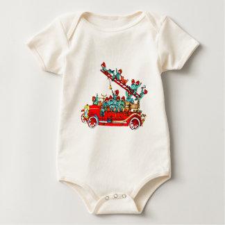 Fire Truck Baby Shirt