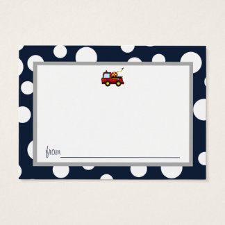 Fire Truck Baby Shower Advice Cards
