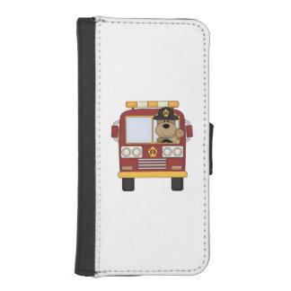 Fire Truck Bear iPhone SE/5/5s Wallet Case