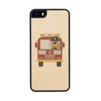 Fire Truck Bear Wood iPhone SE/5/5s Case