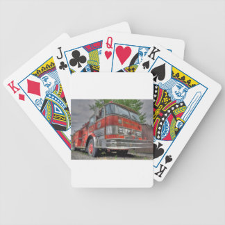 Fire Truck Bicycle Playing Cards