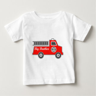 Fire Truck Big Brother Baby T-Shirt