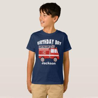 Fire Truck Birthday Boy Custom T-Shirt