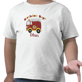 Fire Truck Birthday Kids Personalized Shirt