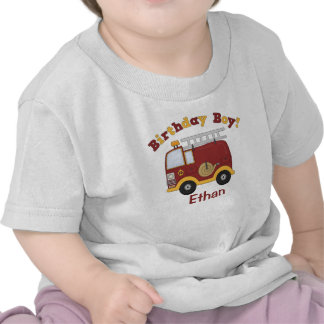 Fire Truck Birthday Kids Personalized T-shirts