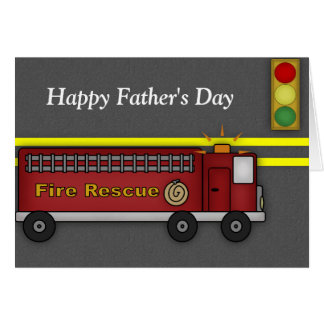 Fire Truck :: Blank Father's Day Greeting Card