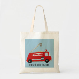 fire truck budget tote bag
