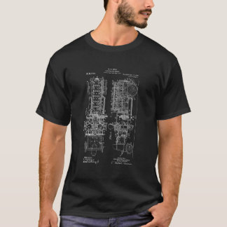Fire Truck Design Blue Print T Shirt gift for him