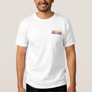 Fire Truck Embroidered T-Shirt