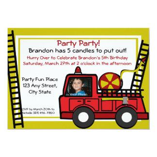 Fire Truck Fun/ Photo Card