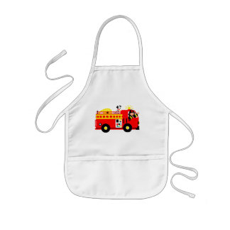 Fire Truck Kids Apron