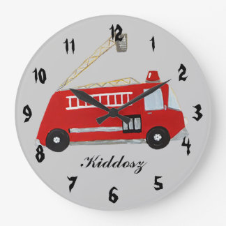 Fire truck large clock