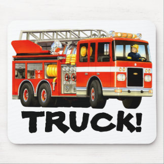 Fire Truck Mouse Pads