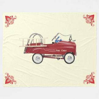 Fire Truck Pedal Car Fleece Blanket