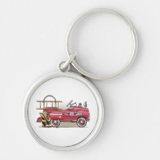 Fire Truck Pedal Car Key Chains