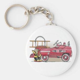 Fire Truck Pedal Car Keychain