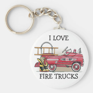 Fire Truck Pedal Car Keychain ILFT