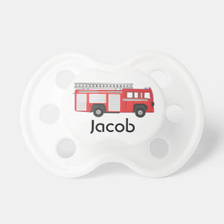 Fire Truck Personalized Pacifier