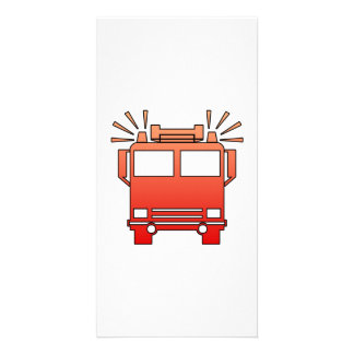 Fire Truck Custom Photo Card
