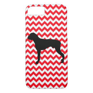 Fire Truck Red Chevron With Boxer iPhone 7 Case